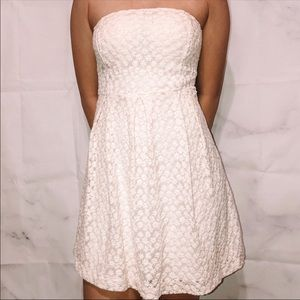 Vintage | Strapless Lace Dress